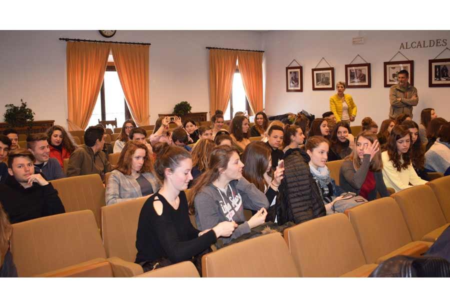 Los alumnos franceses llegaron a Aranda el viernes pasado