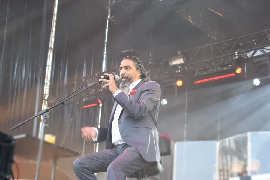 Diego El Cigala disfrutando del público de Sonorama Ribera