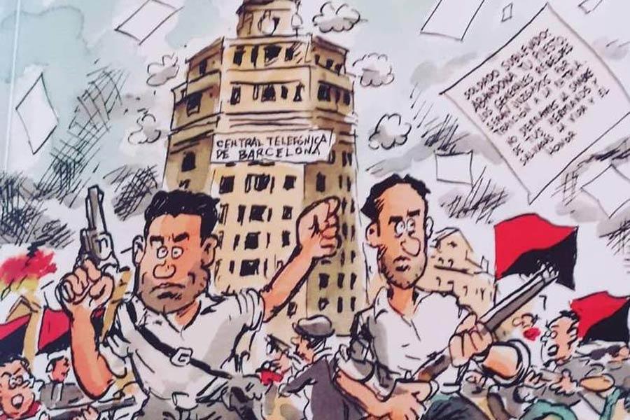 Se presenta el cómic 'Pepe Buenaventura Durruti' .- Aranda - Hemeroteca -  Diario de la Ribera
